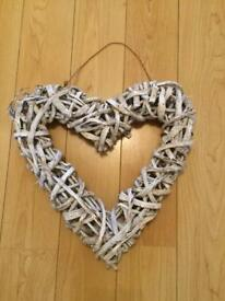 Large rustic wooden heart