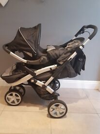 Silver cross S4 three wheeler grey 3 in 1 pushchair with accessories