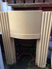 Cast Iron Retro Art Deco Fireplace Surround