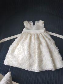 Beautiful little girls Ivory Dress.