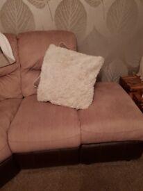 Corner suite with recliner and storage