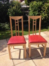 IKEA Birch wood chairs X 2