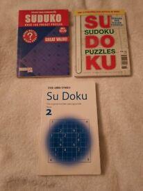 3 X SUDOKU BOOKS
