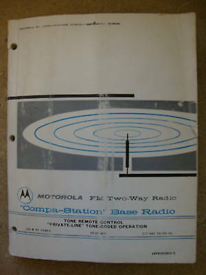 Motorola Compa-staion Base Radio Tone Remote Coded 165