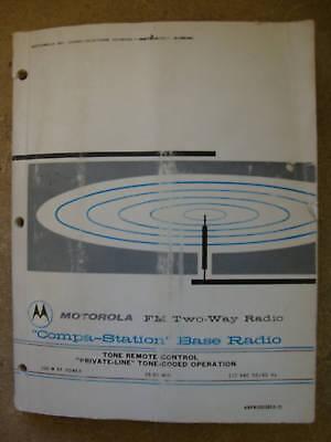 Motorola Compa-staion Base Radio Tone Remote Coded 165