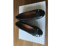 Nearly new, Moda in Pelle black leather low wedge ballet shoe