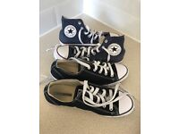 Two pairs Converse trainers Size 6