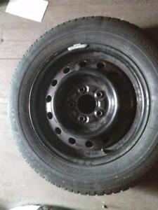 """15"""" WINTER PACKAGE (4) 5X114.3 STEEL RIMS (TOYOTA, HONDA, MAZDA) 195/65R15 GOOD YEAR ULTRA GRIP USED WINTER TIRES FOR SA"""