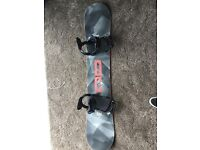 Only used once DC Focus 2016 155 snowboard, fix bindings, route one travel bag
