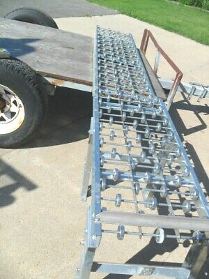 Qty 2- Adjustable Gravity Skate Wheel Conveyor 18 X 4 18 X 6 No Legs
