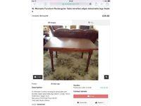 St Michaels Furniture Rectangular Table 120cm x 80cm x 72cm