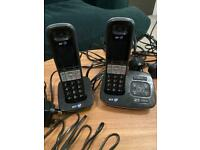 BT TrueCall double handset cordless phones
