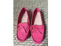 Ladies Next pink loafers.