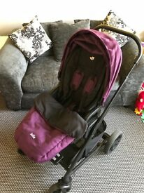 Joie chrome pram carry cot and carry seat