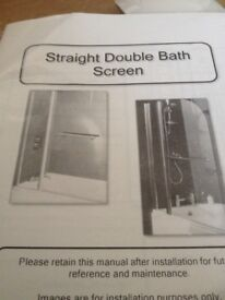 Get this beautiful Straight Double Bath Screen at a bargain price.