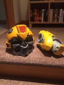 Bumblebee helmet and blaster