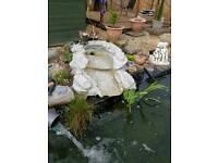 Pond fibreglass waterfall