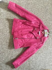 Bluezoo leather pink biker jacket