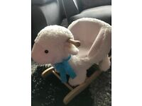 Plush lamb rocker