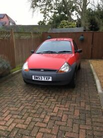 Ford KA red 04 registration