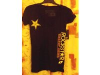 Girls Rockstar Racine Black Short Sleeved T-Shirt – Size S