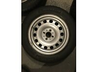 Mini One 4 x Steel wheels and tyres 175/65 R15