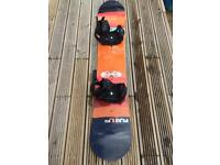Burton Custom Flying V Snowboard and Burton Cartel EST bindings