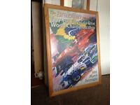 Framed limited edition (66cm x 90cm) print by Dexter Brown of 1997 Brazilian Grand Prix.