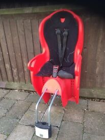 Halfords Baby Bike Seat with working Straps Maximum Weight 48 lbs Exc condition
