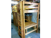 Flexa high bed with wardrobe and desk