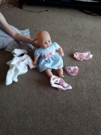 Kids toy pushchair and dolls