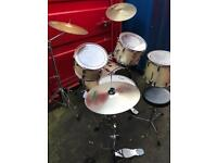 Premier Drum Set, with cymbals, drum throne, pedal base
