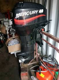 Mercury 40 longshaft on tiller