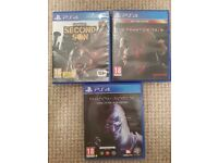 3 PS4 GAMES FOR SALE.