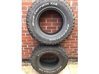 2 BFgoodrich mud terrain tyres