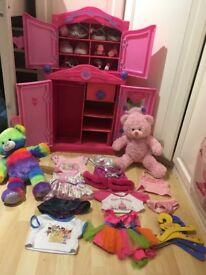 Build-a-bear Wardrobe and Bears. £40 Ono