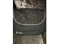 Black Silver Cross changing bag