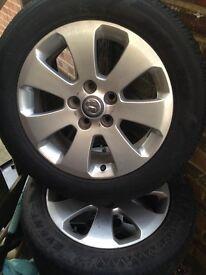 "17"" Vauxhall wheels"