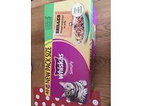 Cat food wiskas x32