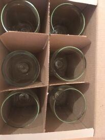 Wine glasses, coasters, kitchen items