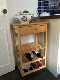 Kitchen cart/trolley with wine rack
