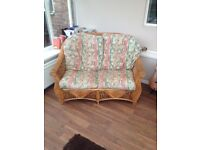 VERY LARGE HEAVY NEW COND RATTAN SOFA
