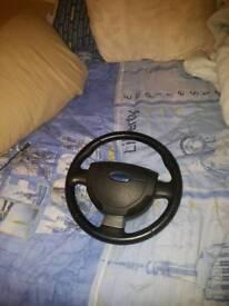 Ford fiesta zetec s mk6 steering wheel