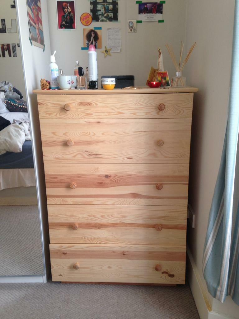 Ikea Tarva Chest Of 5 Drawers Almost New 2 Months