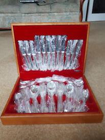 EPNS BEAD Design J H KIRK & Co. Sheffield Silver Service 44 Piece Set of Cutlery