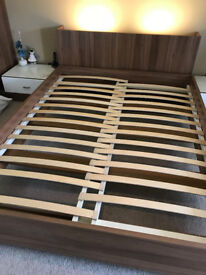 Neville Johnson Fitted Bedroom UK King Size Bed Frame with Headboard and Lights