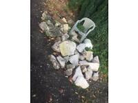 Pond rocks hardly used
