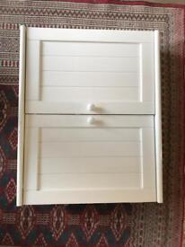 Bathroom wall mounted vanity unit with shelf
