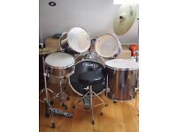 Mapex Steel-finish Drum Kit for sale- must go today!!