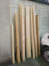Various strips and planks of wood timber central London bargain